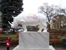 Biały nosorożec maskotką gdyńskiego Teatru Muzycznego