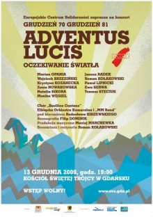 Adventus Lucis - koncert pamięci ofiar Grudnia 70 i 81